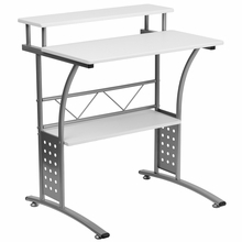 small white computer desk