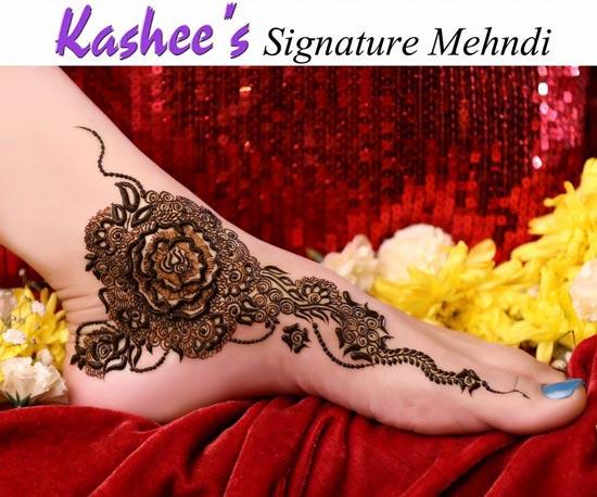 Feet Mehndi Designs Photos : Kashee's stylish foot mehndi designs for bridals sari info