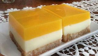 Εκπληκτικό γλυκό ψυγείου με μπισκότα και πορτοκαλάδα!!!