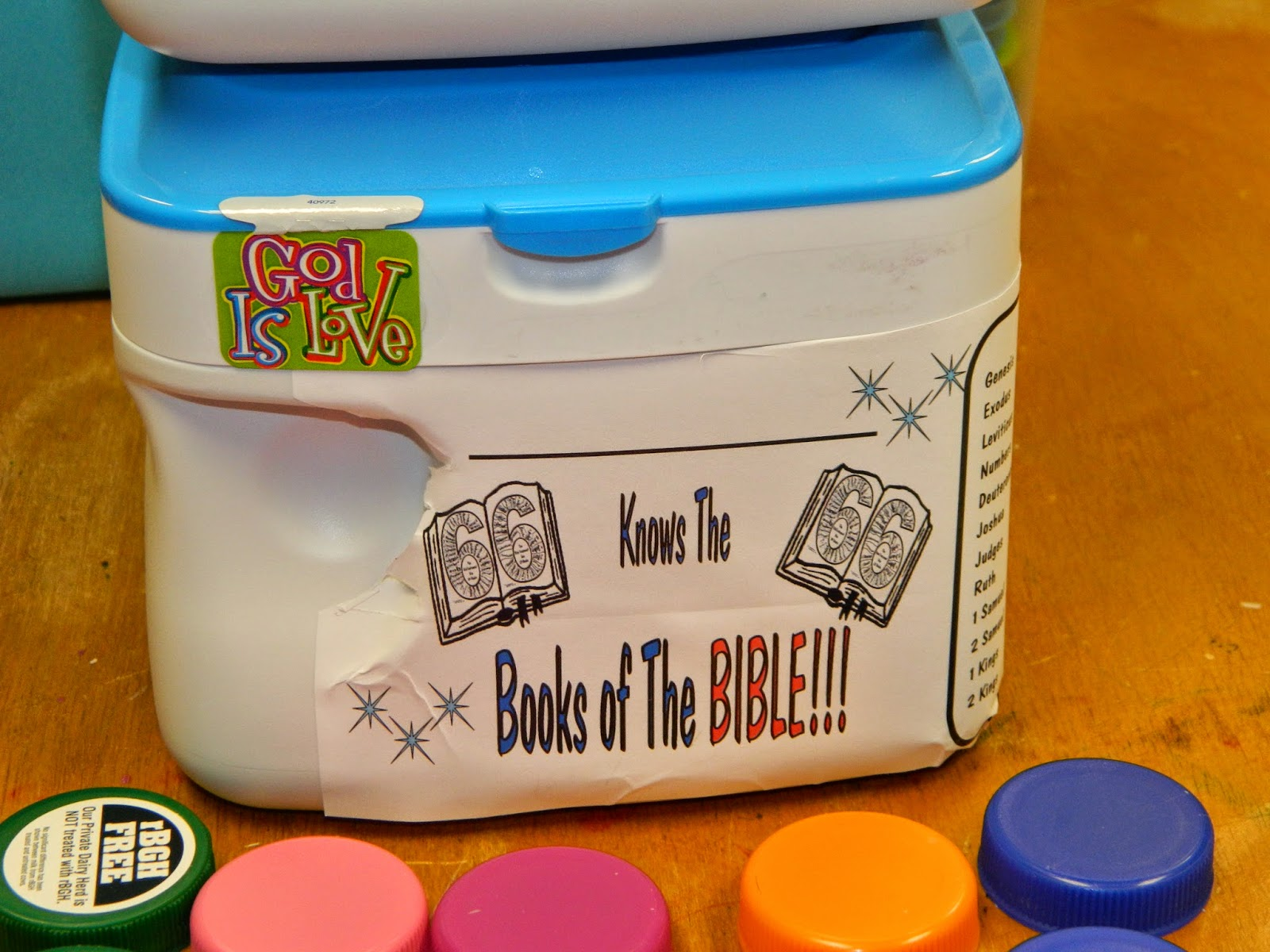 Hands On Bible Teacher Milk Caps Books Of The Bible Memorizing