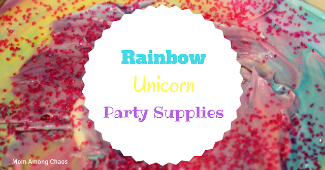 Rainbow Unicorn Party Supplies, Oriental Trading, birthday party, unicorn party, party supplies
