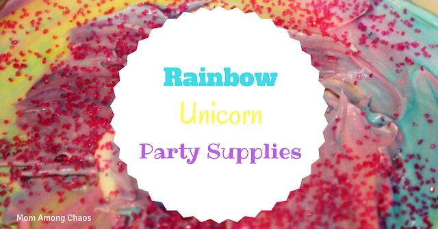 Rainbow Unicorn Party Supplies, Oriental Trading, birthday party, unicorn party, party supplies