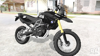 Download mod moto BMW F800 2009 Black Edtion para o jogo GTA San Andreas, GTA SA PC