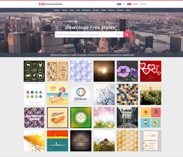 أفضل 10 مواقع لتحميل الفكتور مجانا موقع 1001FreeIcons - مدونة Blog4Prog