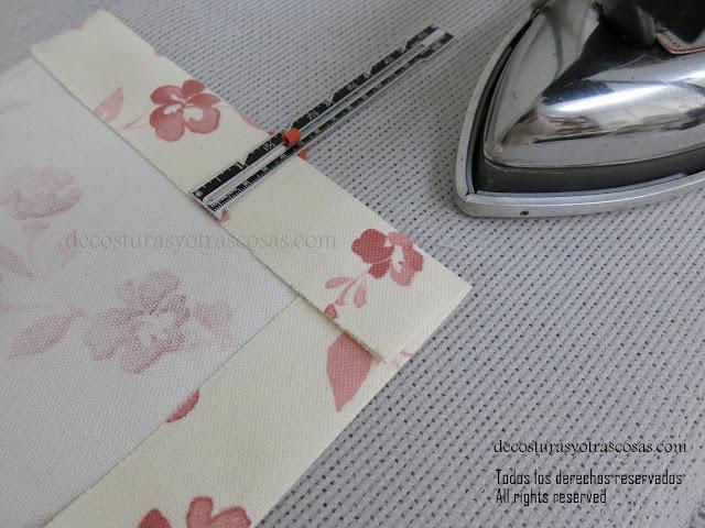 como hacer un cuadrado de tela con esquinas perfectas