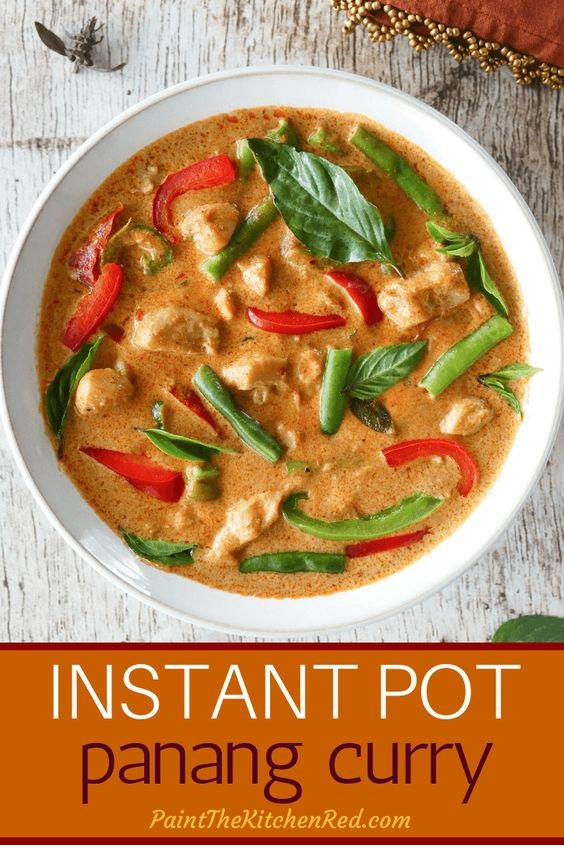 Thai Instant Pot Panang Curry With Chicken