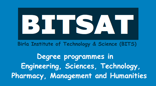 bits pilani,bitsat 2019,online test,admissions into integrated first degree programmes at pilani,goa,hyderbad,dubai campuses,bits pilani is india's leading institute of higher education and a deemed university