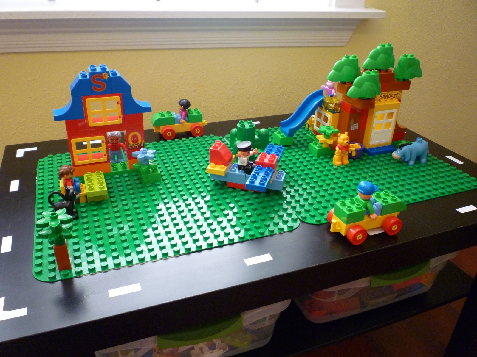 craftyerin lego duplo table. Black Bedroom Furniture Sets. Home Design Ideas