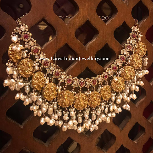 Ganesh Motifs Guttapusalu Necklace