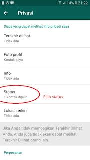 Cara agar status Whatsapp tidak terlihat oleh Pasangan 43