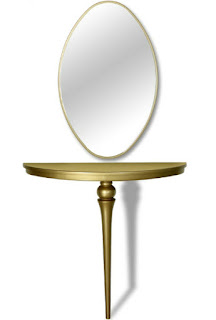 Mueble entrada en color oro