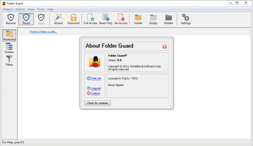 folder lock software with serial key