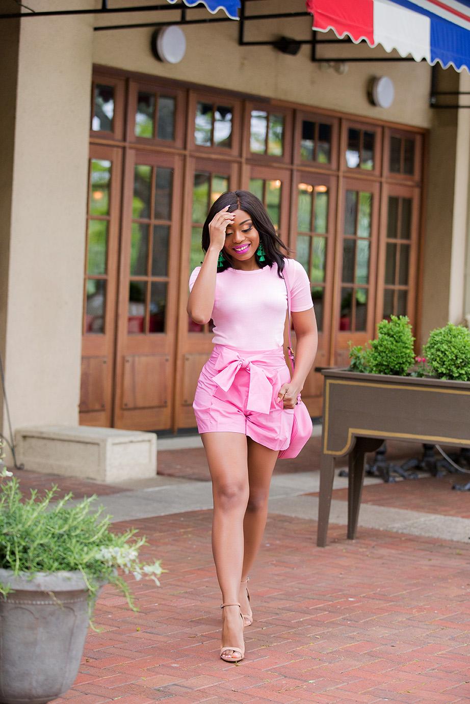 Rethink pink, pink trend, jcrew tie-waist shorts, www.jadore-fashion.com