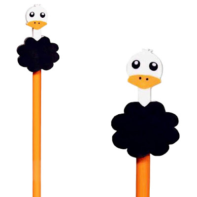 Ostrich Eraser and Pencil