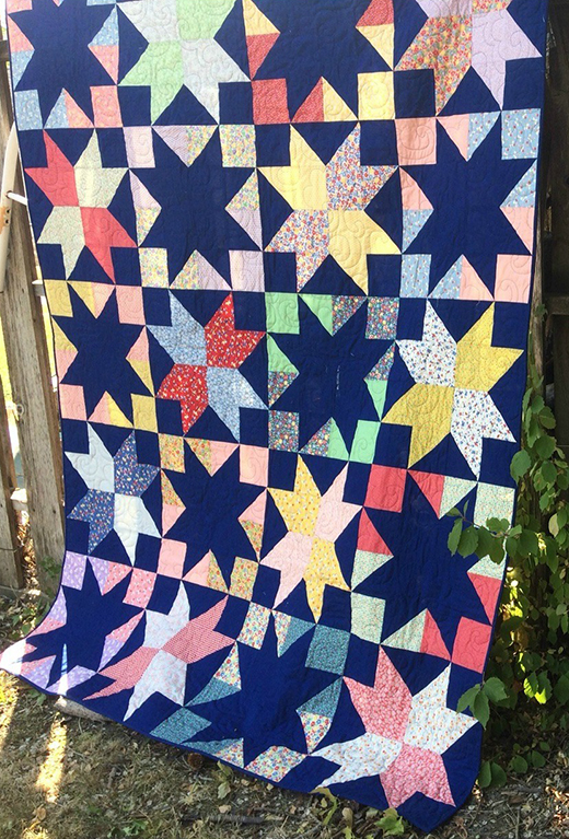 Stargazer Quilt Free Tutorial designed by Anne Wiens of Sweetgrass Creative Designs for Modabakeshop