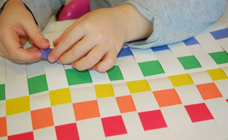 Rainbow Weaving Fine Motor Craft for Preschool