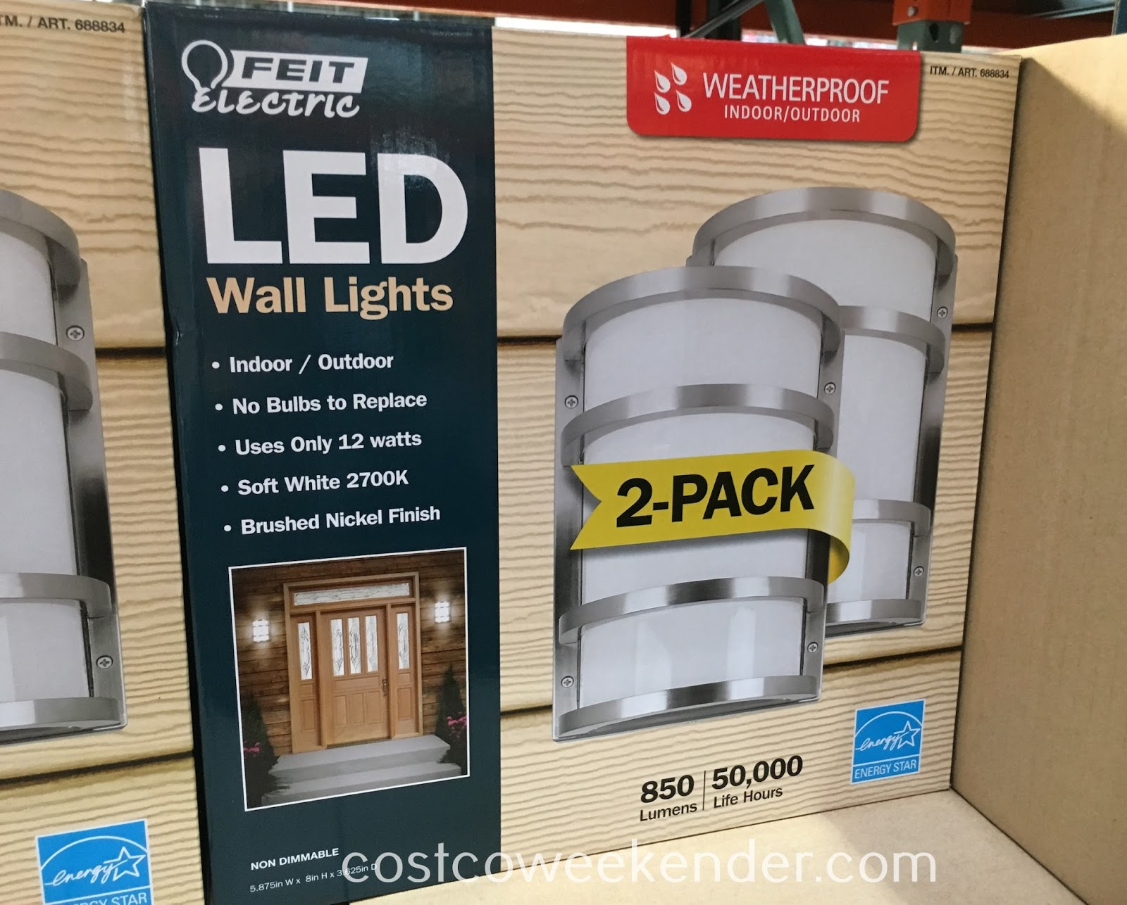 Ensure the outside or inside of your home is well lit with Feit LED Wall Sconce Lights