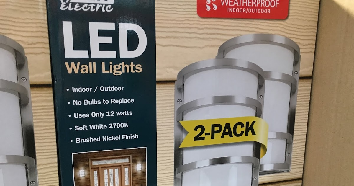 Feit Electric Led Wall Sconce Lights 2 Pack Costco
