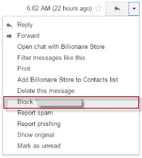 Blokir Kontak email