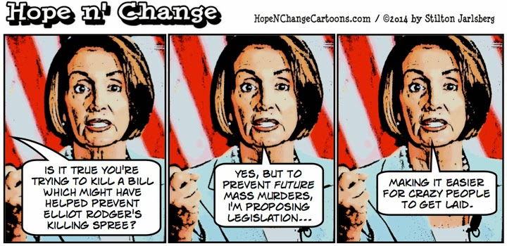obama, obama jokes, political, humor, cartoon, stilton jarlsberg, hope and change, hope n' change, nancy pelosi, elliot rodger, NRA, murder, mental health, reform