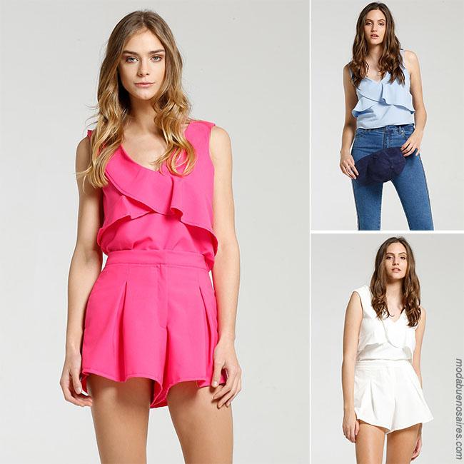 Moda verano 2018 blusas de moda.