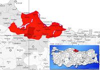 Havza ilçesinin nerede olduğunu gösteren harita.