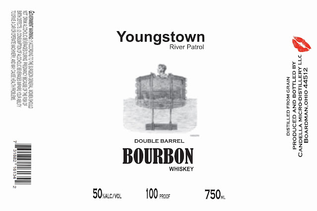 Candella Micro-Distillery Youngstown River Patrol Double Barrel Bourbon Whiskey