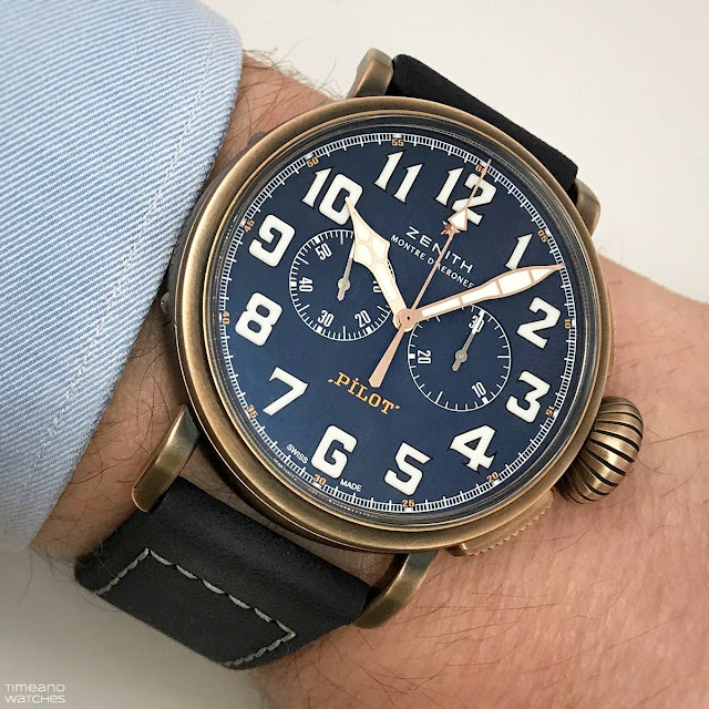 Zenith Pilot Type 20 Extra Special Chronograph with bronze case and blue dial (ref. 29.2430.4069/57.C808)