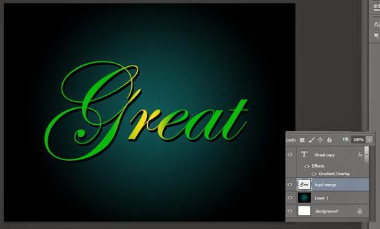 teks 3D photoshop, teks efek 3d, teks efek photoshop
