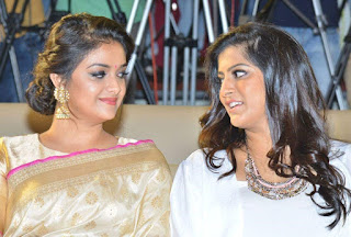 Keerthy Suresh in Saree with Cute Smile in Pandem Kodi 2 Audio Launch