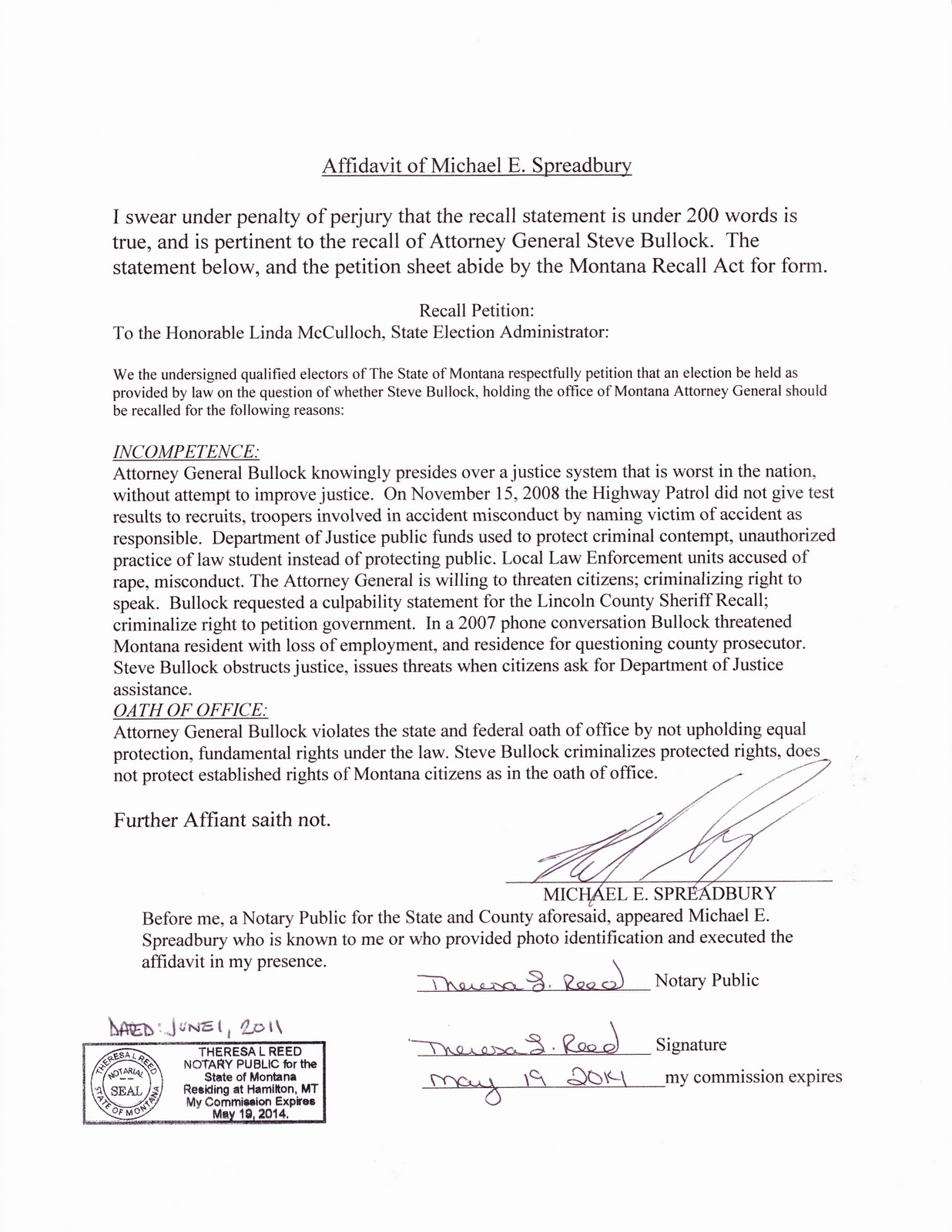 Affidavit Template marriage free printable documents general – Affidavit of Truth Template