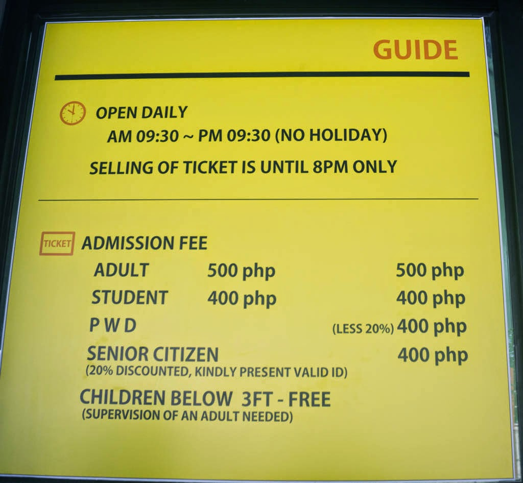 art in island cubao ticket price