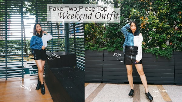Fake Two Piece Top Weekend Outfit #79