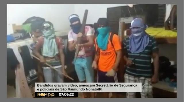 Jovens que gravaram vídeo ameaçando polícia do PI pedem desculpas
