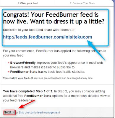cara mendaftarkan blog ke feedburner