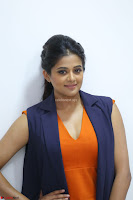 Priyamani in Beautiful Short Deep neck Orange Dress ~  Exclusive 06.JPG