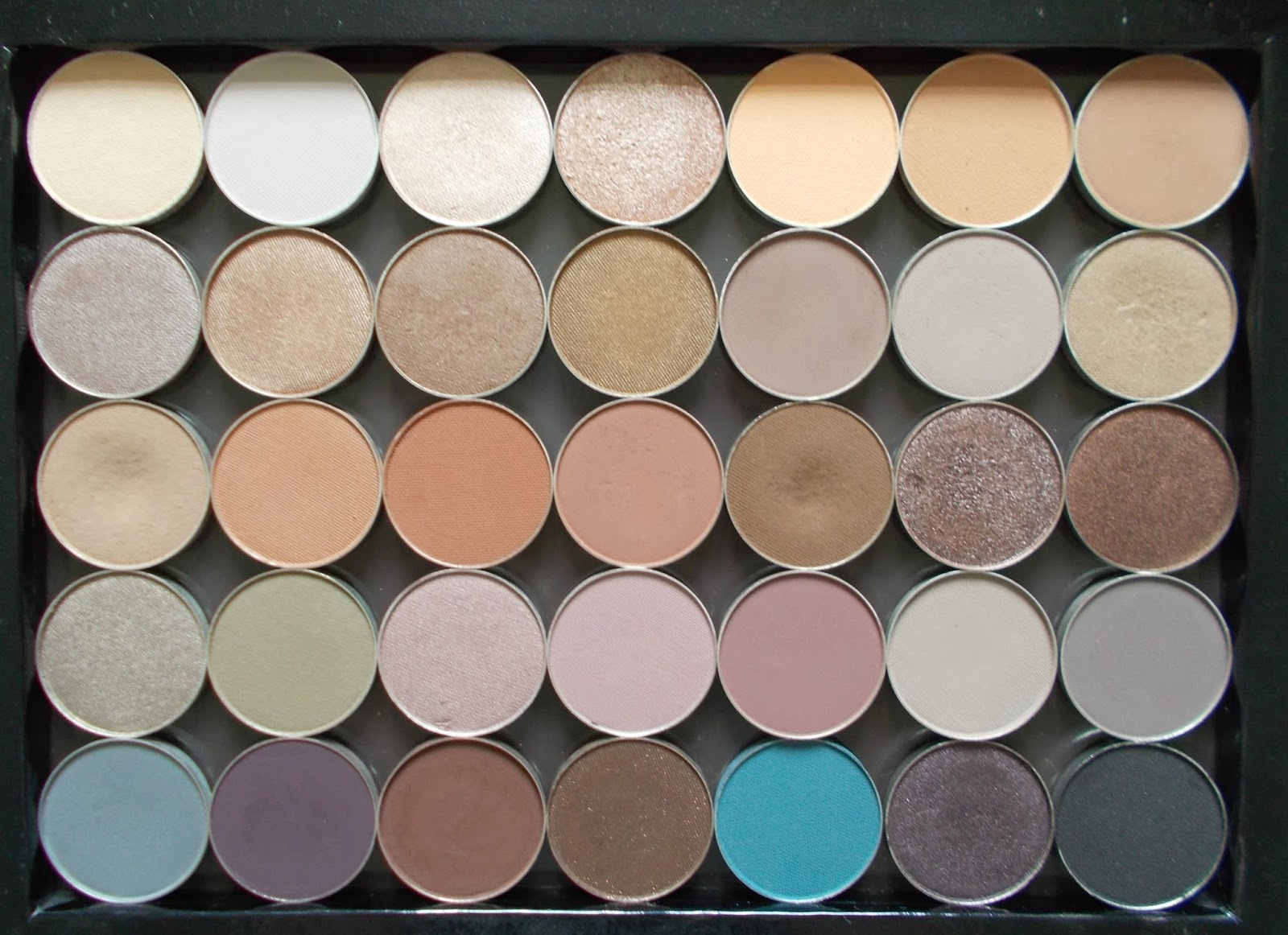 makeup geek collection eyeshadow pan extra large z palette neutral shades