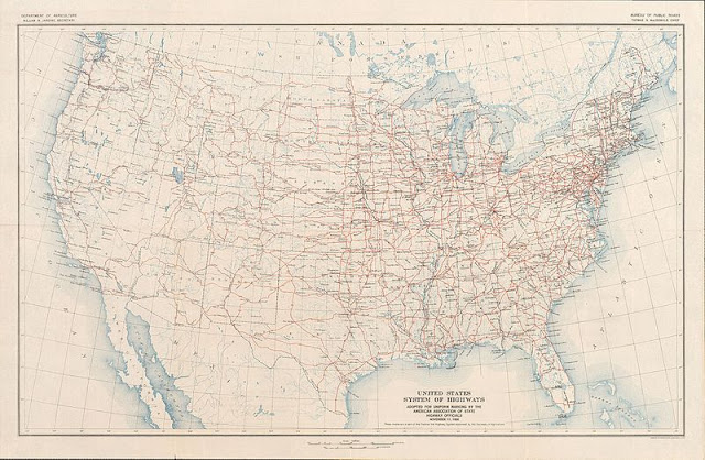 1926 map of US Highways