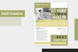 Healthcare Promotion Flyer Template Free Download on Word File