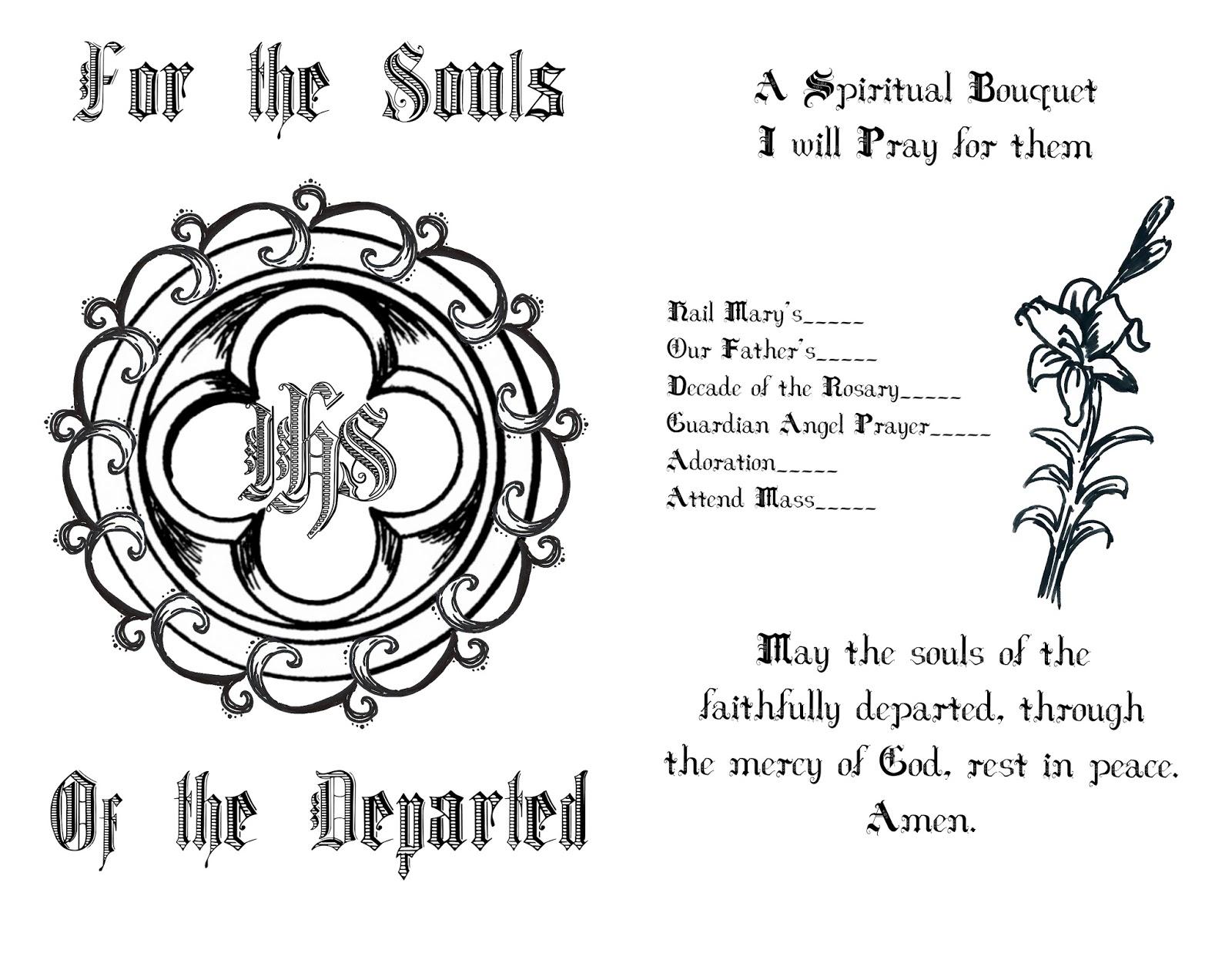 Life, Love, & Sacred Art: FREE Spiritual Bouquet Card