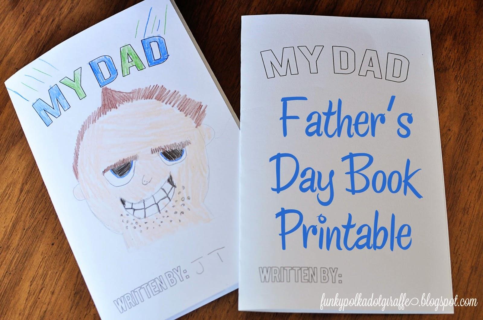 Funky Polkadot Giraffe Book Father S Day Gift And Printable