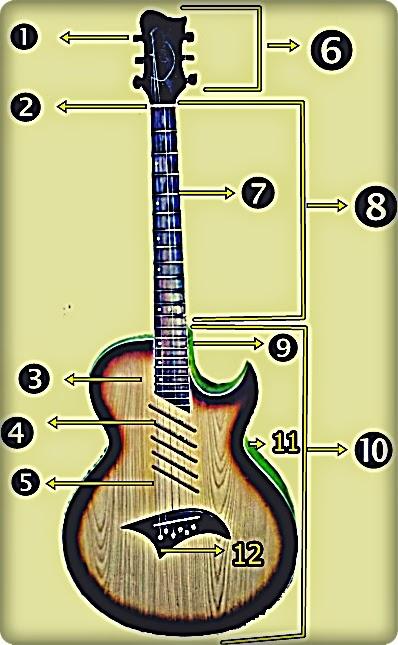 Mengenal Bagian Dasar Yang Terdapat Pada Alat Musik Gitar