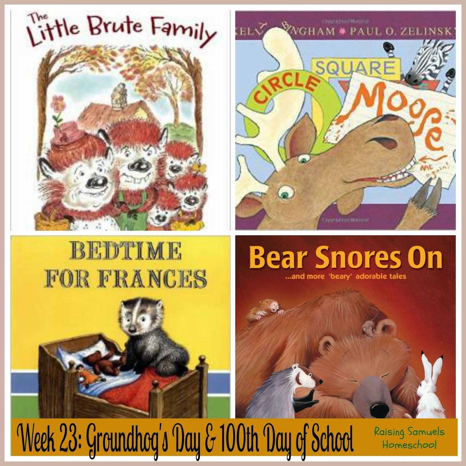Week 23: Groundhog's Day and 100th Day of School
