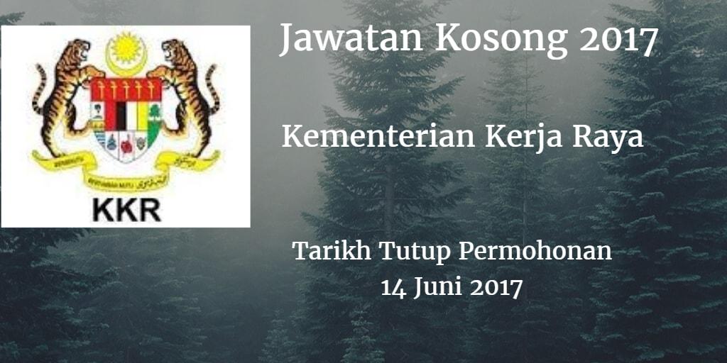 Jawatan Kosong KKR 14 Juni 2017