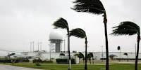 The US Naval Air Station at Key West, Florida, feels the forces of Hurricane Dennis in 2005. (Image Credit: Jim Brooks/US Navy via Wikimedia Commons) Click to Enlarge.