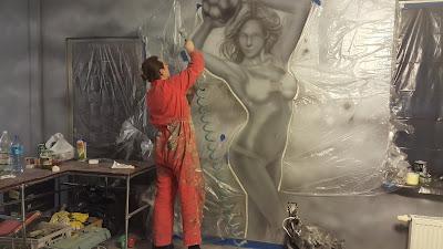 Ciekawy pomysł na wystrój ścian w barze, malowanie baru, mural 3D
