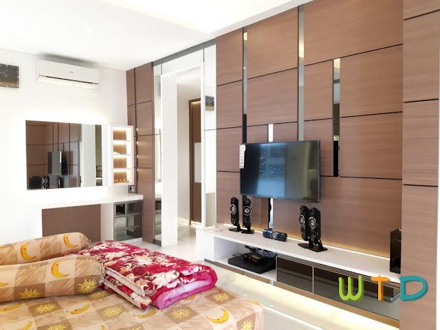 Desain Interior Kamar Utama Kedamaian. Lampung