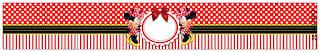 Etiquetas de Minnie en Rayas Rojas para imprimir gratis.