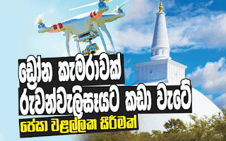 Drone crashes into Ruwanweli Maha Seya Stupa