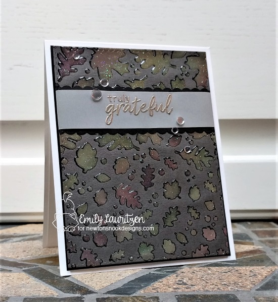 Truly Grateful by Emily features Falling Leaves and Shades of Autumn by Newton's Nook Designs; #newtonsnook